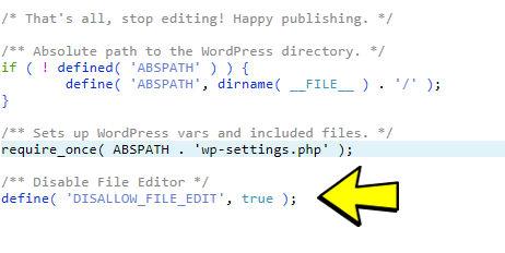 Cpanel edit sample