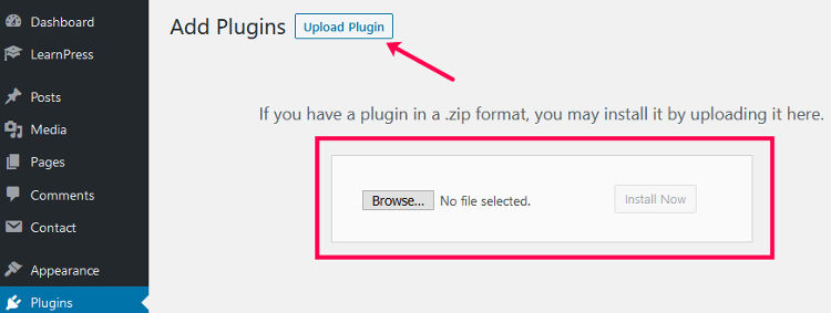 Upload Plugin Form