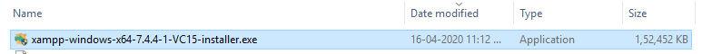 xampp installer file